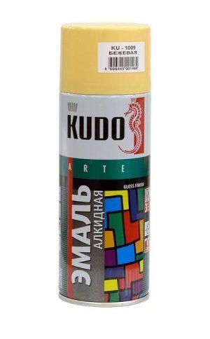Эмаль KUDO KU-1009 бежевая универсальная 520мл