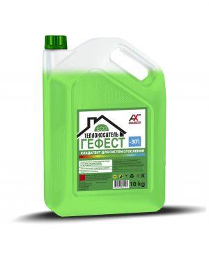 Теплоноситель ГЕФЕСТ ЭКО -30 на основе глицерина зеленый 10кг