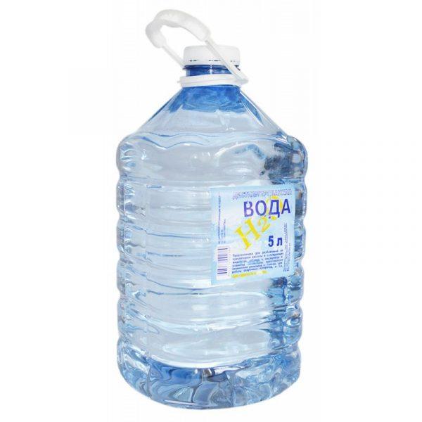 Дистиллированная вода Содружество 5л