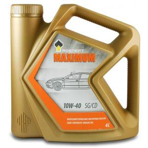 Масло моторное РОСНЕФТЬ Maximum 10W-40 SG/CD 4л