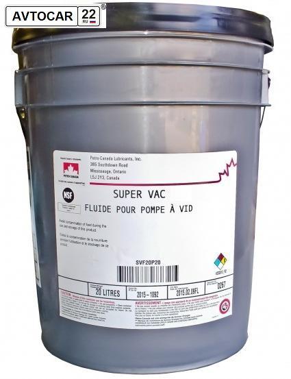 Индустриальное масло PETRO-CANADA SUPER VAC FLUID 19 20L  (для вакуумных насосов)