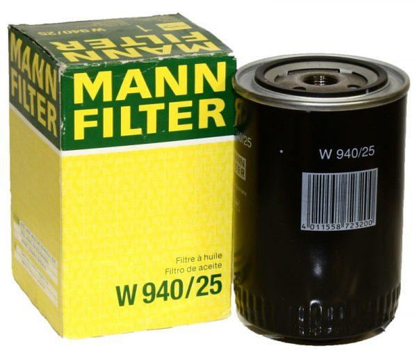 W 940/25 MANN масляный фильтр