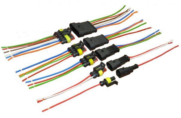 Колодка ДИАЛУЧ КЛИ085-2 2конт.АМР с проводами L=120mm S=0.75mm (гнездовая+штырьевая герметичная)