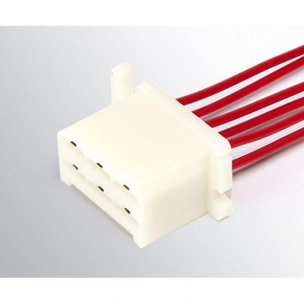 Колодка с проводами ДИАЛУЧ КЛ067-1 6 конт.6.3мм (штырьевая+гнездовая)