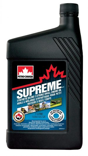 Масло двухтактное PETRO-CANADA SUPREME SYNTHETIC BL 2-STRK SML синтетика 1л