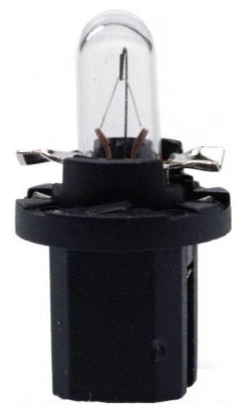 Автолампа галогенная ДИАЛУЧ 82122 black W1.2W 12V 1.2W B8.5d черная, дальний/ближний свет