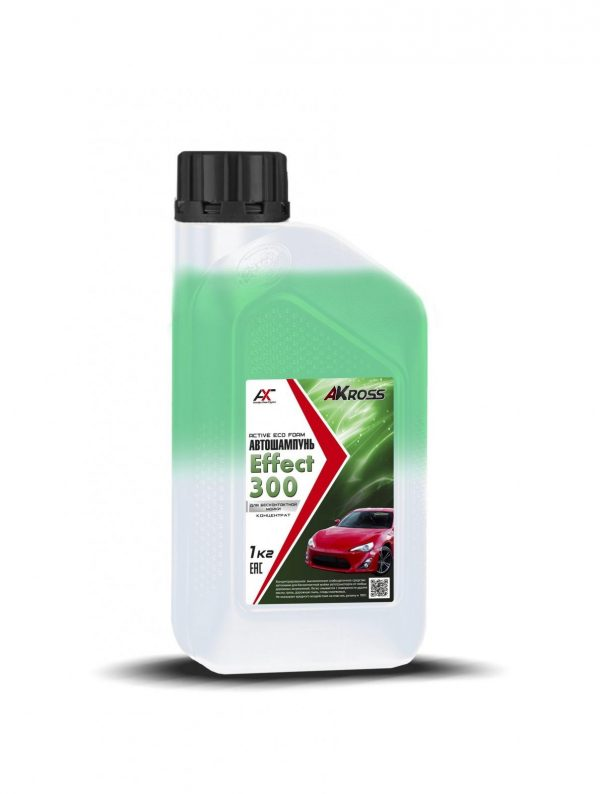 Шампунь для бесконтактной мойки AКross Effect 300 двухкомпонентный зеленый 1кг