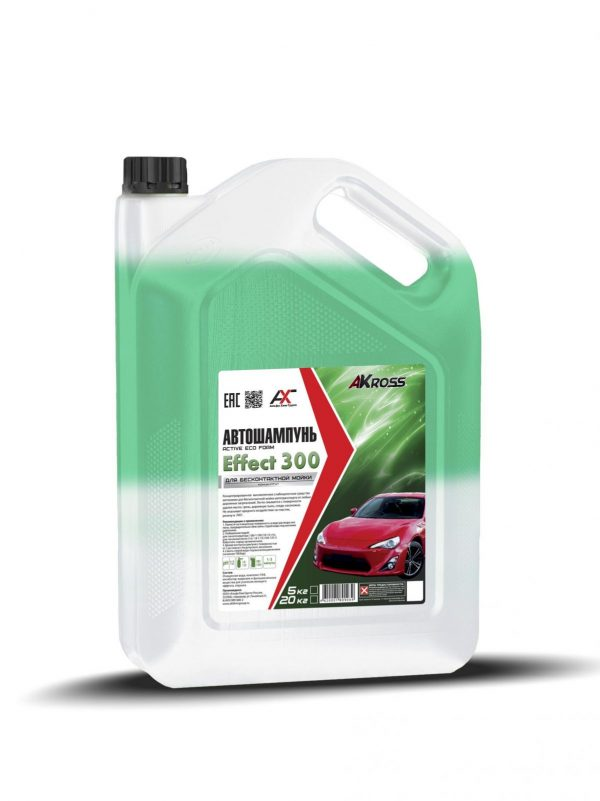 Шампунь для бесконтактной мойки AКross Effect 300 двухкомпонентный зеленый 5кг