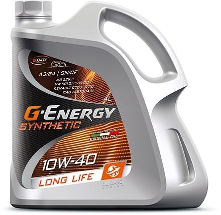 Масло моторное G-Energy Synthetic Long Life 10W-40 SN/CF 4л