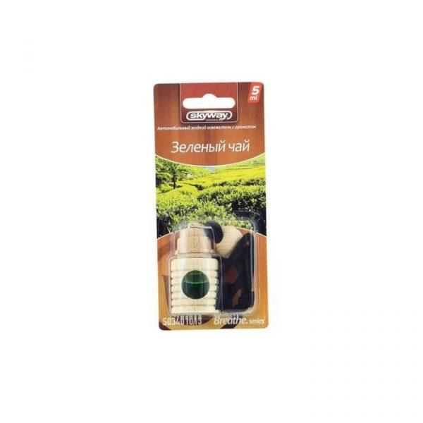 Ароматизатор подвесной SKYWAY Зеленый чай Breathe.series 5мл (бутылочка в дереве)
