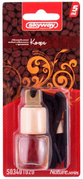 Ароматизатор подвесной SKYWAY Кофе Breathe.series 5мл (бутылочка в дереве)