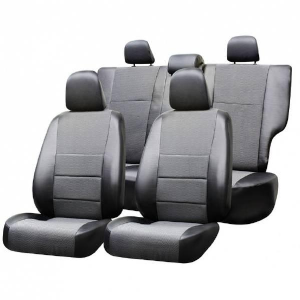 Чехлы сиденья SUV жаккард SKYWAY CHEVROLET NIVA c 2009-н.в. черный/темно-серый 12 предметов