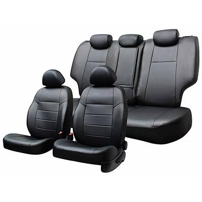 Чехлы сиденья жаккард SKYWAY NISSAN Qashqai 2006-2013 5мест SUV черный/серый 13 предметов