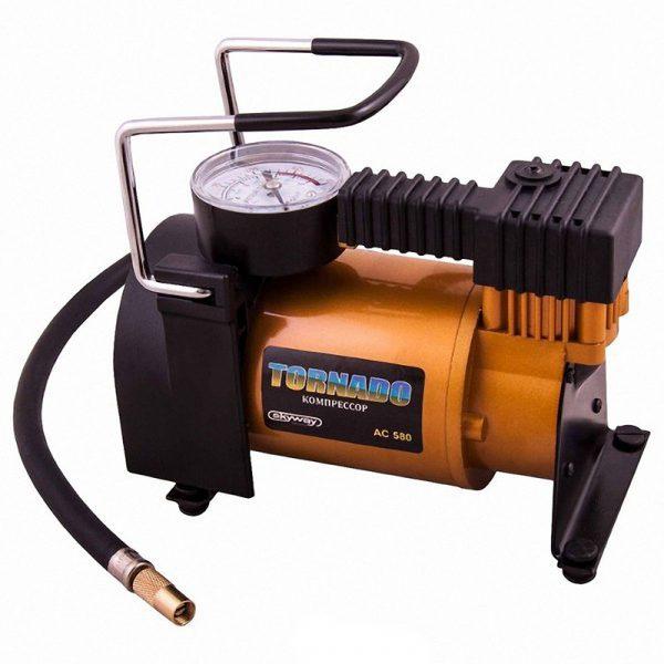 Компрессор металлический ТОРНАДО АС-580 30 л/мин SKYWAY в прикуриватель