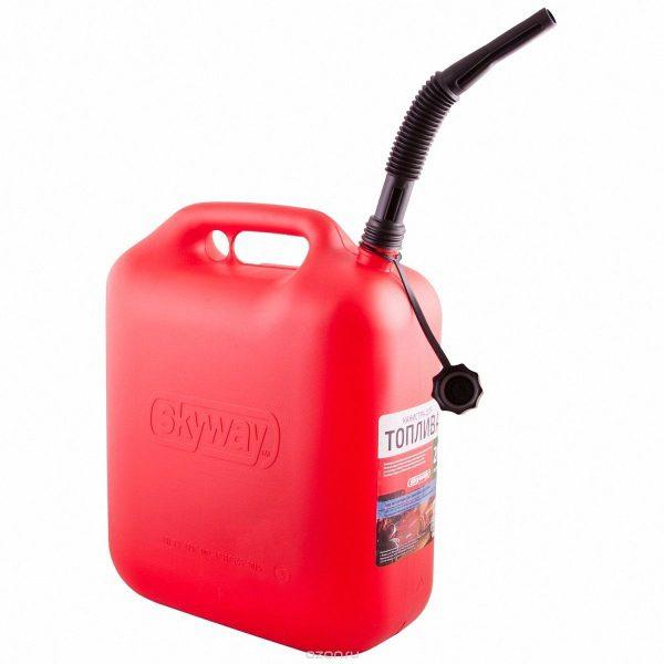 Канистра для бензина SKYWAY пластик усиленная 20л