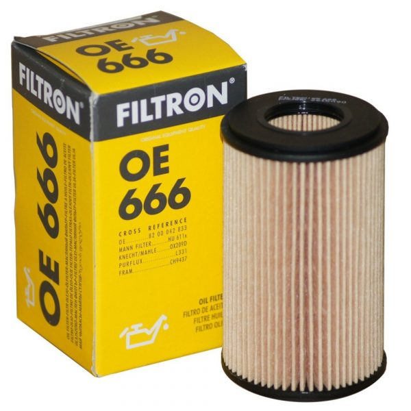 Фильтр масляный FILTRON OE666 RENAULT CLIO II/KANGOO/THALIA/TWINGO 98-