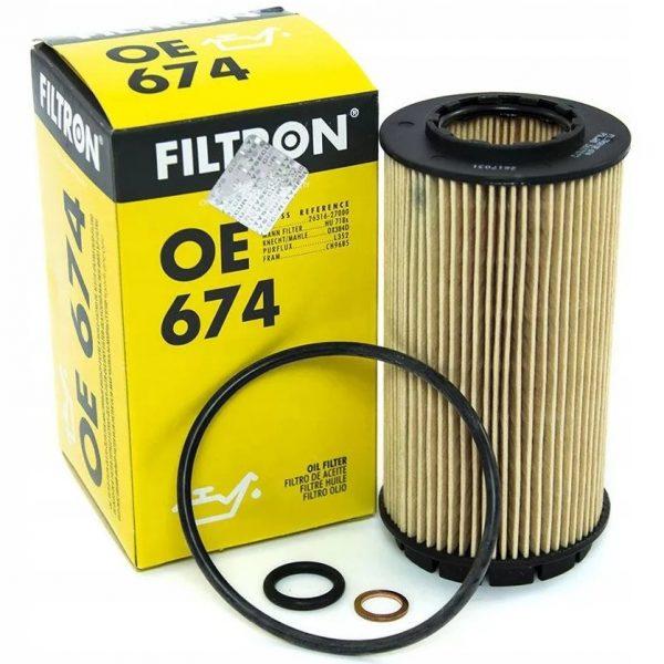 Фильтр масляный FILTRON OE674 HYUNDAI, KIA Santa Fe, Tucson, Cerato, Sportage 01- 2.0 DIESEL