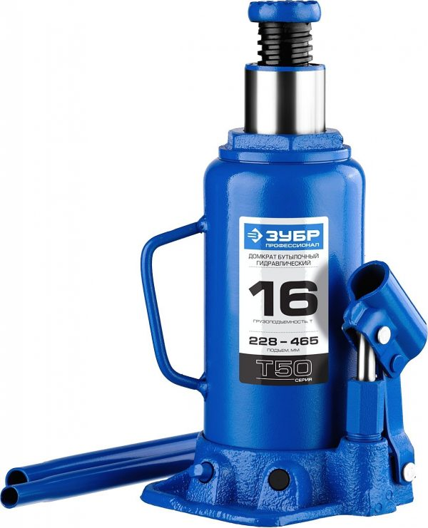 Домкрат бутылочный ЗУБР 43060-16 z01 16т 228-465мм