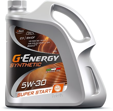 Масло моторное G-Energy Synthetic Super Start 5W-30 SN/CF 4л
