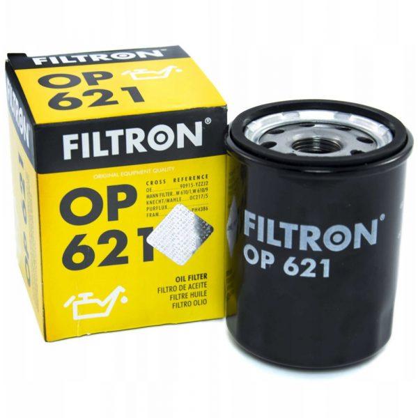 Фильтр масляный FILTRON OP621 Toyota Avensis/Corolla/Camry/Rav4 87> Komatsu; New Holland; Daihats