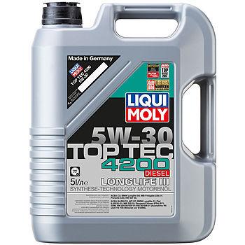 Масло моторное LIQUI MOLY TopTec 4200 Diesel 5W-30 CF C3 2376 синтетика 5л