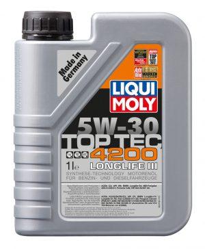 Масло моторное LIQUI MOLY TopTec 4200 5W-30 CF C3 7660 синтетика 1л