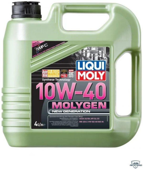 Масло моторное LIQUI MOLY Molygen New Generation 10W-40 SL/CF A3/B4 9060 полусинтетика 4л