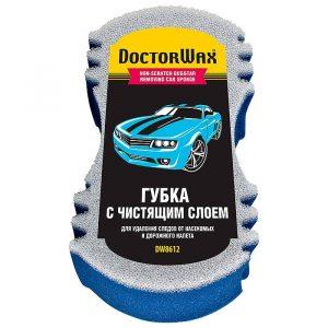Губка для мойки автомобиля с сеткой для удаления дорожного налета и насекомых Doctor Wax DW8612R