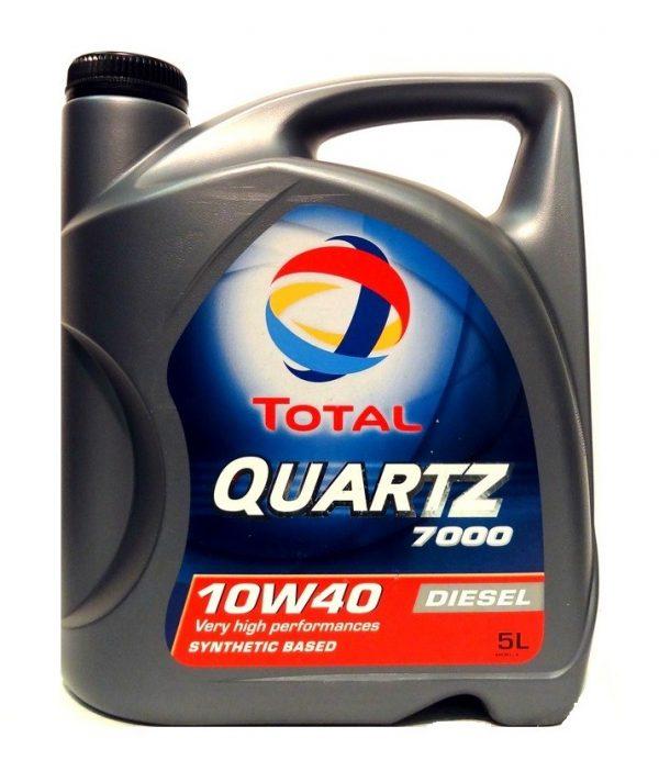 Масло моторное Total QUARTZ 7000 DIESEL 10W-40 SN/СF  ACEA A3/B4 полусинтетика 5л