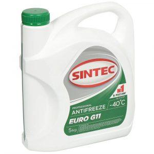 АКЦИЯ! Антифриз SINTEC EURO G11 зеленый 5кг по цене 4кг