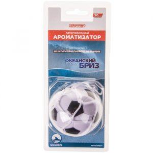 Ароматизатор-игрушка SKYWAY Океанский бриз (футбольный мяч)