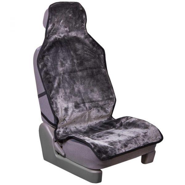 Накидка сиденья меховая искусственный мутон SKYWAY ARCTIC серый соты 2 предмета