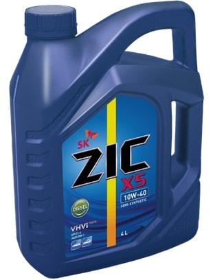 Масло дизельное ZIC Х5 Diesel 10W-40 API CI-4 / SL полусинтетика 4л