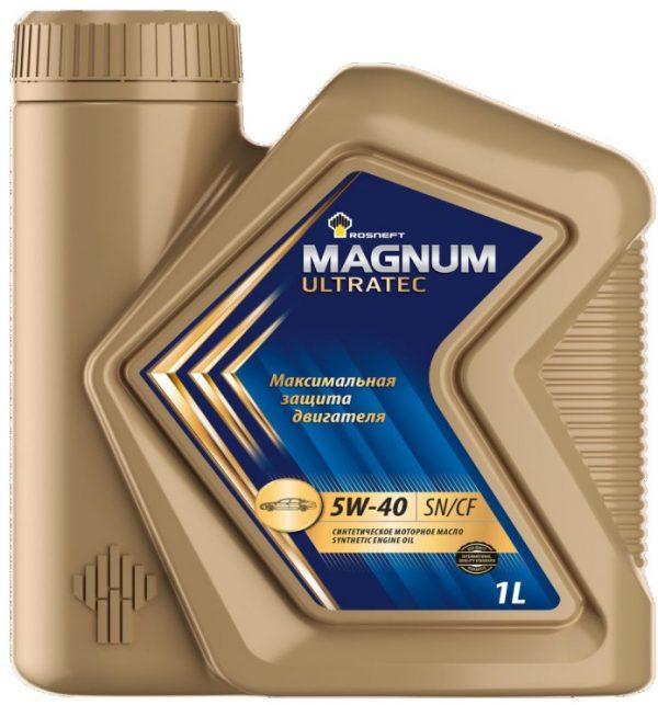Масло моторное РОСНЕФТЬ Magnum Ultratec 5W-40 SN/CF 1л