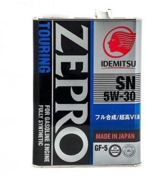 Масло моторное IDEMITSU Zepro Touring 5W-30 SN/GF-5 синтетическое 4л