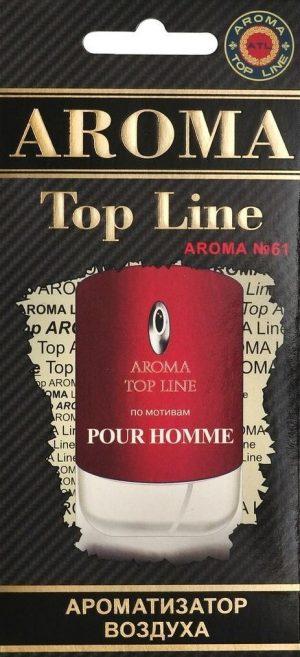 Ароматизатор бумажный AROMA Top Line №61 Givenchy POUR HOMME