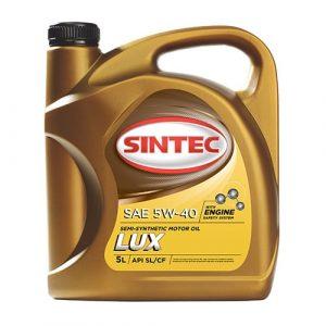Масло моторное SINTEC Люкс 5W-40 SL/CF полусинтетика 4л