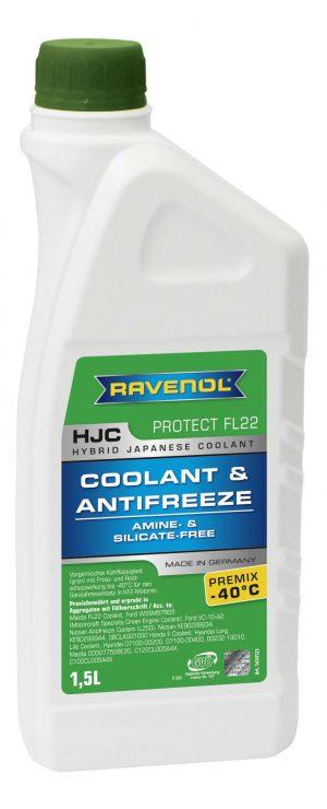 Антифриз Ravenol HJC Hybrid Japanese Coolant Premix -40C зеленый 1,5л
