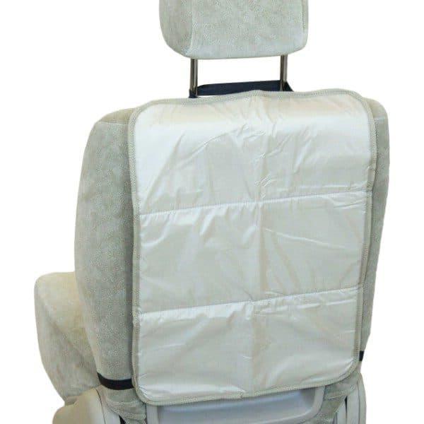 Защита спинки сиденья-органайзер SKYWAY ПВХ Бежевая 3-х слойная