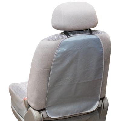 Защита спинки сиденья-органайзер SKYWAY ПВХ Серая 55*37см