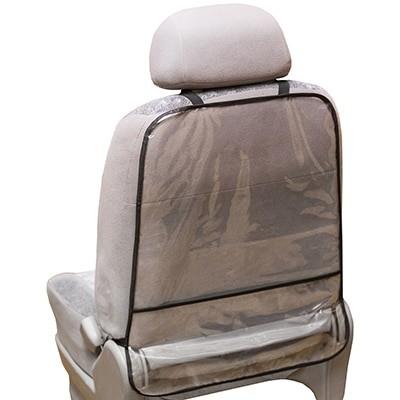 Защита спинки сиденья-органайзер SKYWAY ПВХ Прозрачная 60*50см с карманом