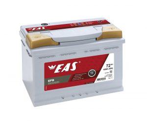 Аккумулятор автомобильный EAS EFB Start-Stop 72Ач 680А о/п