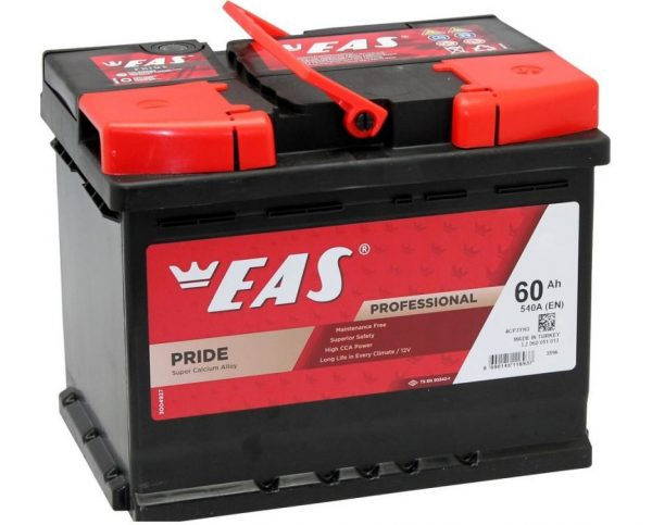 Аккумулятор автомобильный EAS PRIDE 60Ач 540А п/п