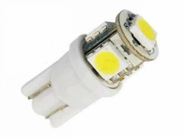 Автолампа светодиодная ДИАЛУЧ 92121 SMD  1  HP 12V  white,  W5W 12V W2.1×9.5D, (белый)
