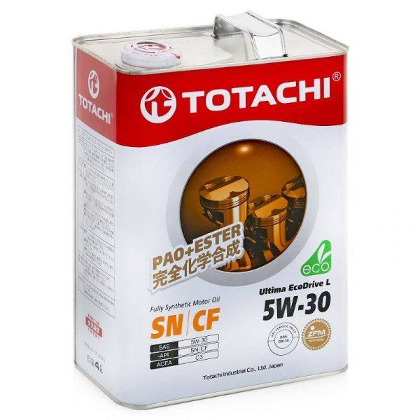 Масло моторное TOTACHI Ultima EcoDrive L 5W-30 SN/CF синтетика 4л