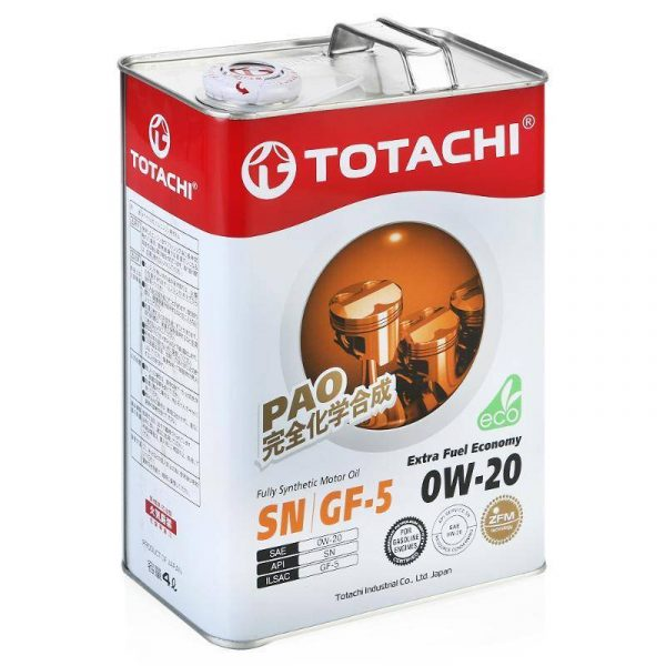 Масло моторное TOTACHI Extra Fuel Economy 0W-20 SN синтетика 4л