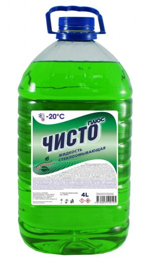 Стеклоомывающая жидкость ЧИСТО плюс-20 4л ПЭТ