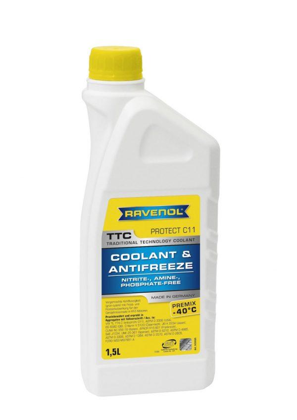 Антифриз Ravenol TTC Traditional Technology Coolant Concentrate желтый концентрат 1,5л