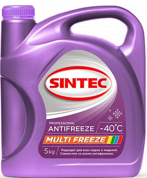 Антифриз SINTEC MULTI FREEZE розовый 5кг