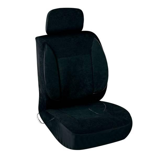 Чехлы сиденья с подогревом велюр SKYWAY с терморегулятором (2 режима) 2003 Черный с поддержкой спины